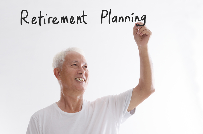 Old Man Writing Retirement Planning
