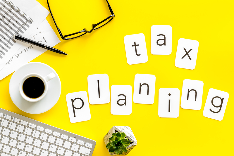 tax planning lettered cards